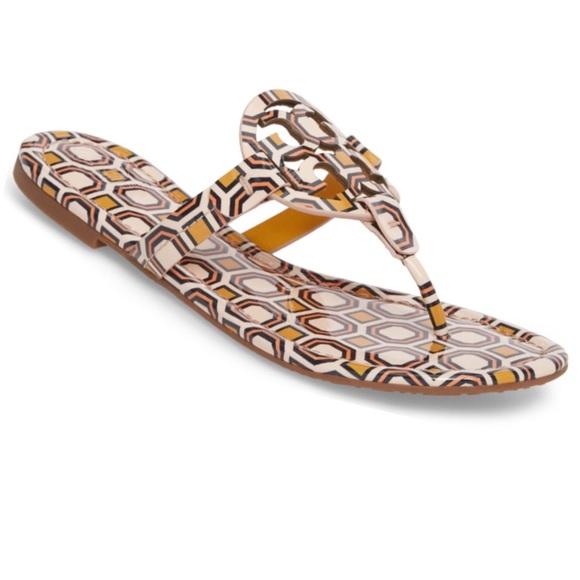 dc661e38387313 NWT Tory Burch Miller Flat Sandals